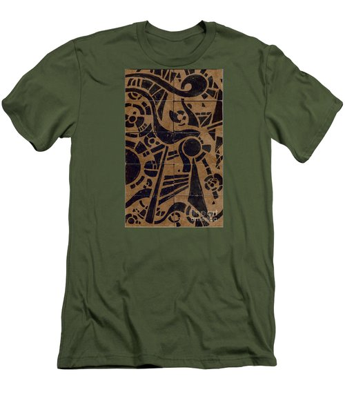 Flipside 1 Panel C Men's T-Shirt (Slim Fit) by Joseph A Langley