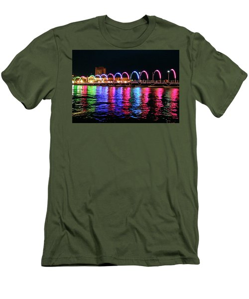 Men's T-Shirt (Slim Fit) featuring the photograph Floating Bridge, Willemstad, Curacao by Kurt Van Wagner