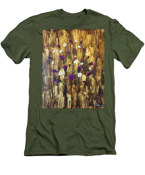 Floating Royal Roses Men's T-Shirt (Athletic Fit)