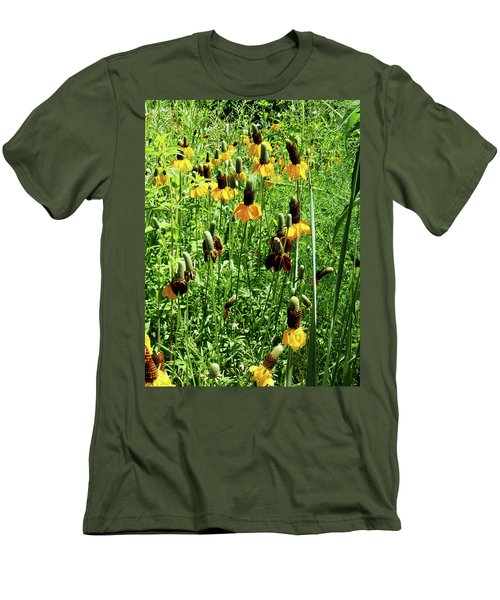 Floral Men's T-Shirt (Slim Fit) by Cynthia Powell