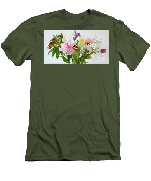 Men's T-Shirt (Athletic Fit) featuring the photograph Floral Display by Wendy Wilton