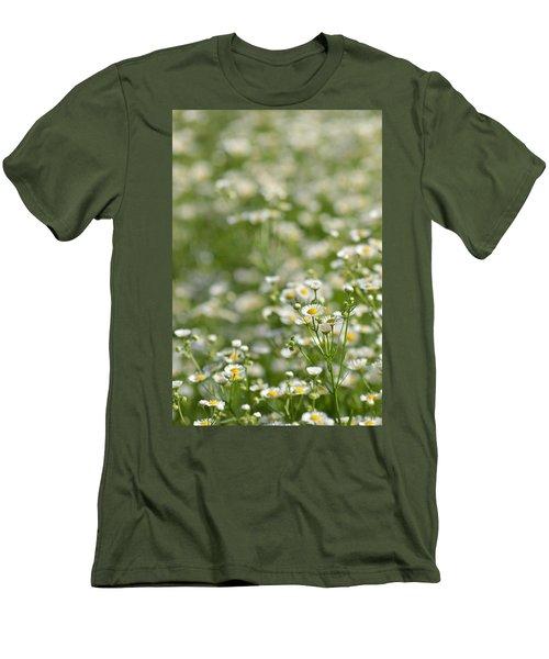 Floral Field #1 Men's T-Shirt (Athletic Fit)