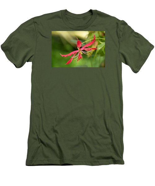 Floral Flair Men's T-Shirt (Athletic Fit)