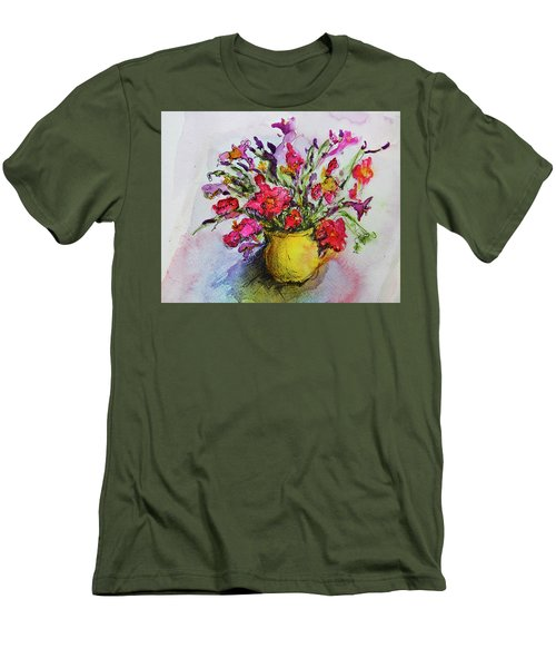 Floral Still Life 05 Men's T-Shirt (Slim Fit) by Linde Townsend