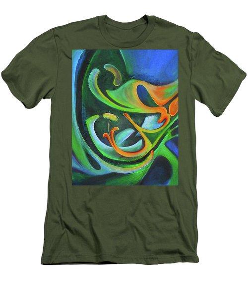 Floralblue Men's T-Shirt (Athletic Fit)