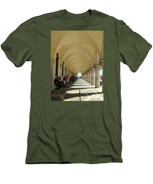 Florence Columns Men's T-Shirt (Slim Fit) by Lisa Boyd