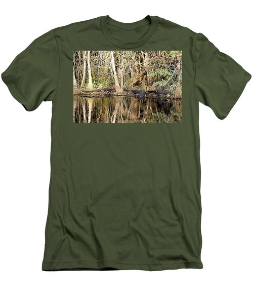 Men's T-Shirt (Slim Fit) featuring the photograph Florida Gators - Everglades Swamp by Jerry Battle