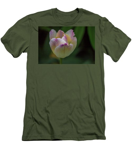 Flower 654853 Men's T-Shirt (Slim Fit) by Timothy Latta