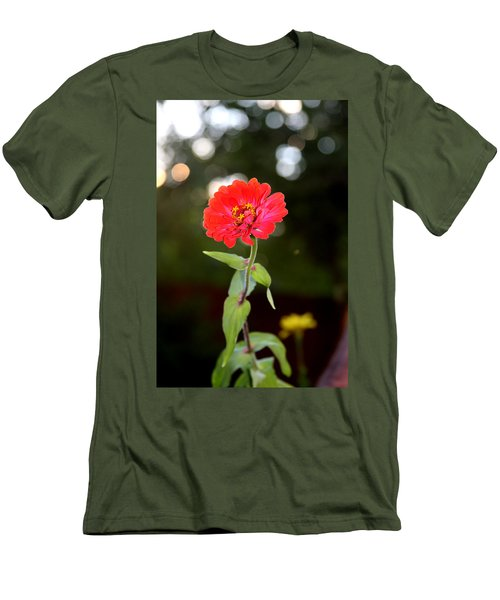 Men's T-Shirt (Athletic Fit) featuring the photograph Flower And Hope by Vadim Levin