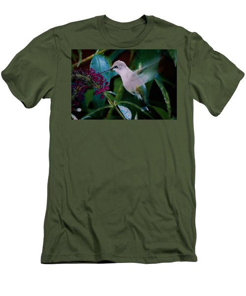 Flower And Hummingbird Men's T-Shirt (Athletic Fit)