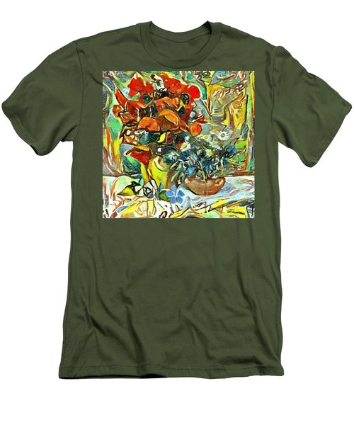 Flower Burst Men's T-Shirt (Athletic Fit)