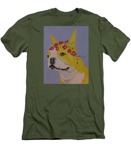 Flower Dog 5 Men's T-Shirt (Slim Fit) by Hilda and Jose Garrancho