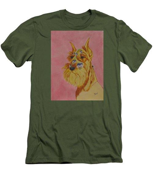 Flower Dog 9 Men's T-Shirt (Slim Fit) by Hilda and Jose Garrancho