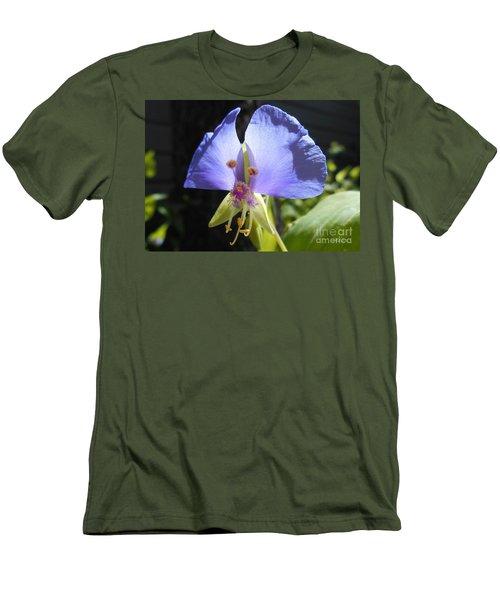Flower Face Men's T-Shirt (Slim Fit) by Felipe Adan Lerma