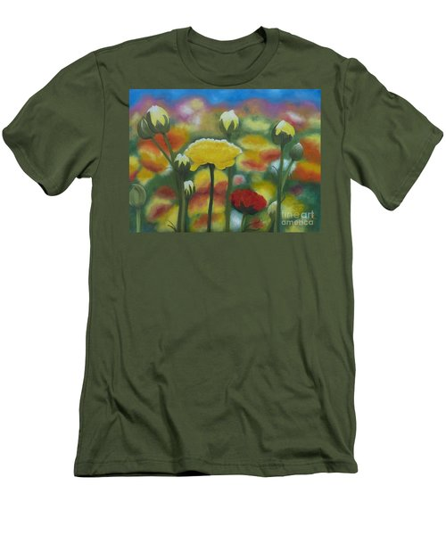 Flower Focus Men's T-Shirt (Athletic Fit)