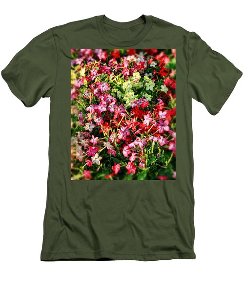 Flower Garden 1 Men's T-Shirt (Athletic Fit)