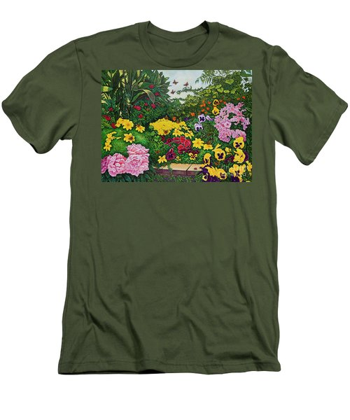 Flower Garden Xii Men's T-Shirt (Athletic Fit)
