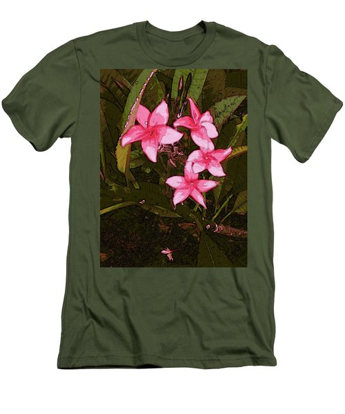 Men's T-Shirt (Athletic Fit) featuring the digital art Flower Gems by Winsome Gunning