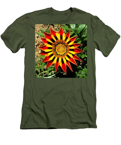 Flower -  Made In Nature Men's T-Shirt (Slim Fit) by Jasna Gopic
