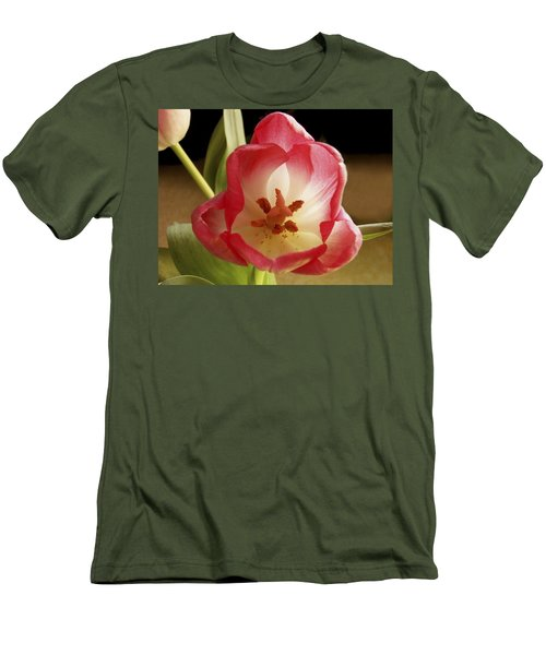 Men's T-Shirt (Slim Fit) featuring the photograph Flower Tulip by Nancy Griswold