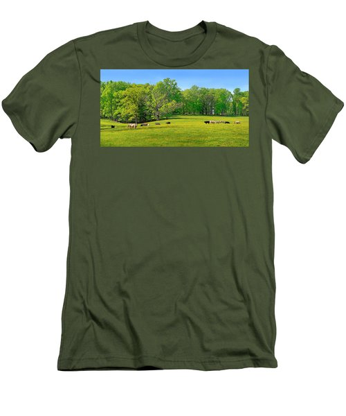 Flowering Cow Pasture Men's T-Shirt (Athletic Fit)