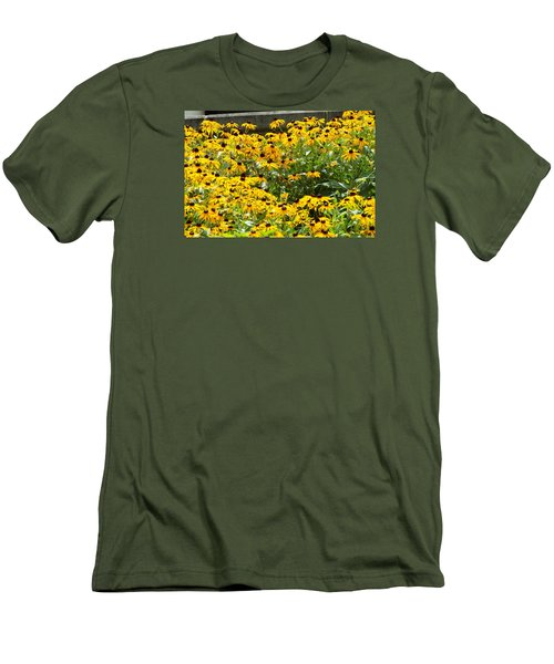 Men's T-Shirt (Slim Fit) featuring the photograph Flowers A Go Go by Jake Hartz