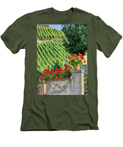 Flowers And Vines Men's T-Shirt (Slim Fit) by Alan Toepfer