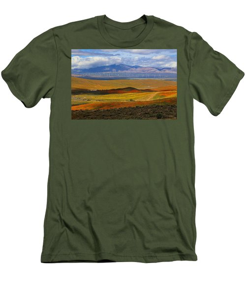 Men's T-Shirt (Slim Fit) featuring the photograph Flowers Carpet by Viktor Savchenko