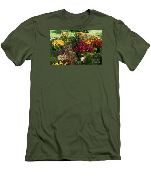 Men's T-Shirt (Slim Fit) featuring the digital art Flowers For Sale by David Blank