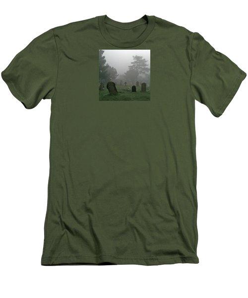 Flowers In The Mist Men's T-Shirt (Slim Fit) by Anne Kotan