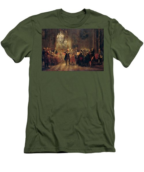 Flute Concert With Frederick The Great In Sanssouci Men's T-Shirt (Slim Fit) by Adolph Menzel