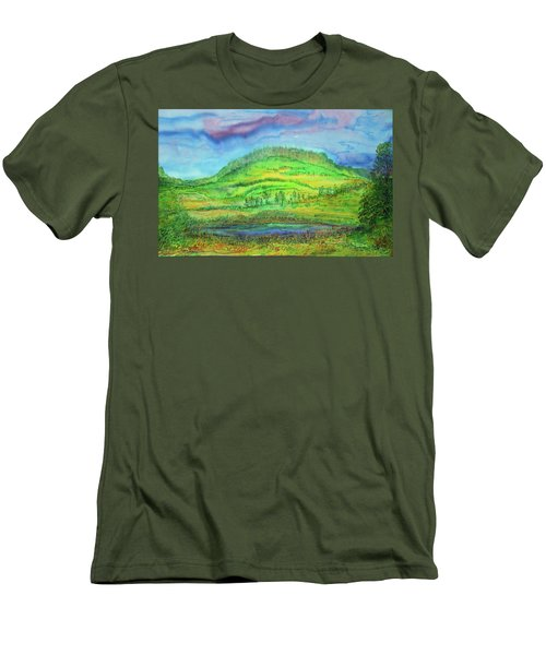 Men's T-Shirt (Slim Fit) featuring the painting Flying Solo by Susan D Moody