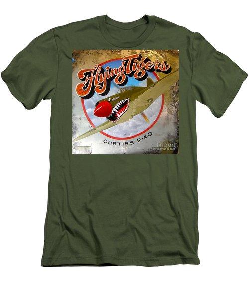 Flying Tigers Men's T-Shirt (Slim Fit) by Alan Johnson