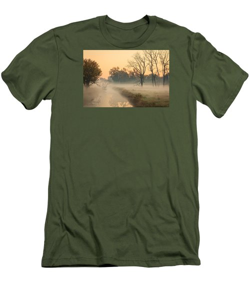 Foggy Fall Morning On Gary Avenue Men's T-Shirt (Athletic Fit)