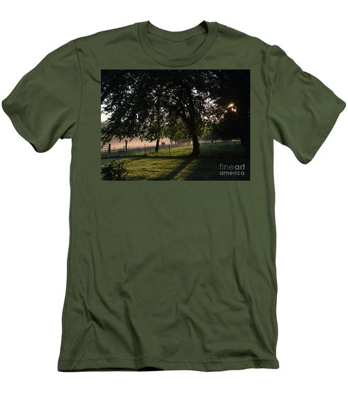 Foggy Morning Men's T-Shirt (Slim Fit) by Mark McReynolds