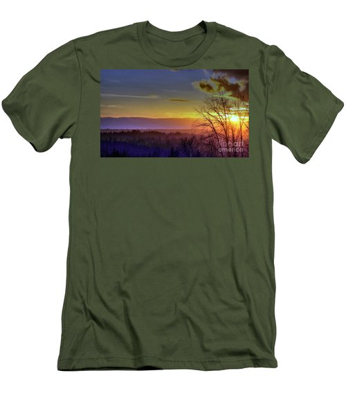 Foggy Sunset Men's T-Shirt (Slim Fit) by Victor K