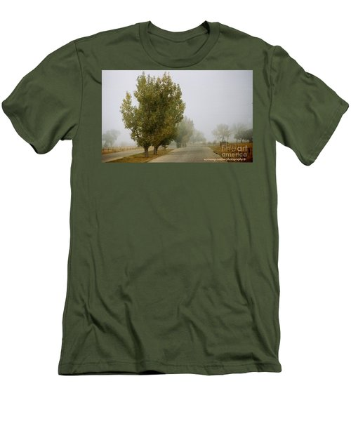 Foggy Trees Men's T-Shirt (Athletic Fit)