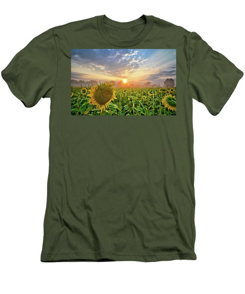 Foggy Yellow Fields Men's T-Shirt (Athletic Fit)