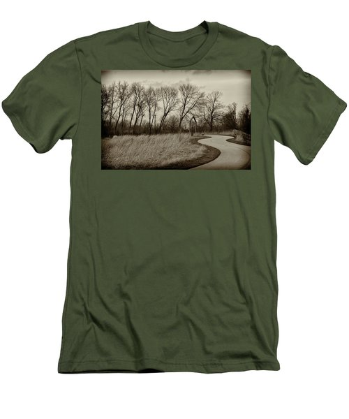 Follow The Path Men's T-Shirt (Slim Fit) by Elvira Butler