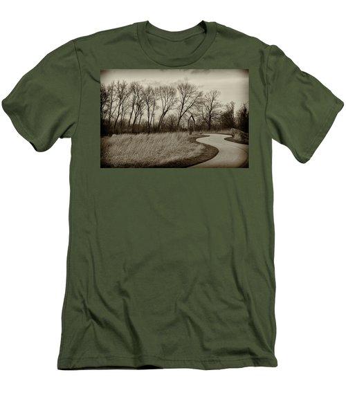 Men's T-Shirt (Slim Fit) featuring the photograph Follow The Path by Elvira Butler
