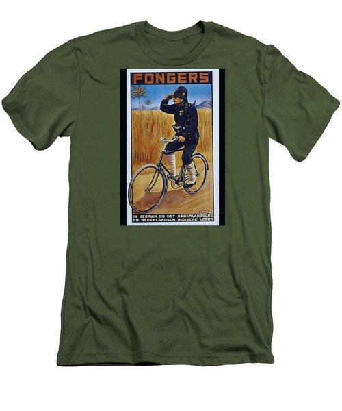 Fongers In Gebruik Bil Nederlandsche En Nederlndsch Indische Leger Vintage Cycle Poster Men's T-Shirt (Athletic Fit)