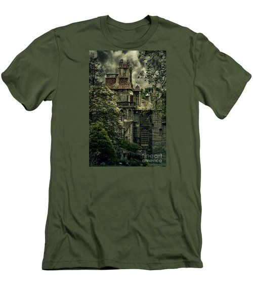 Fonthill With Storm Clouds Men's T-Shirt (Slim Fit) by Debra Fedchin