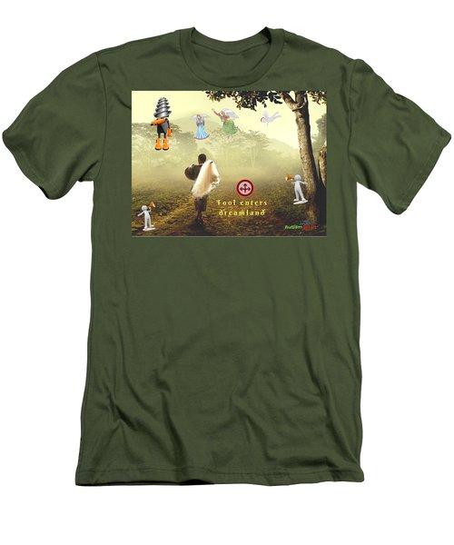 Fool Enters Dreamland Men's T-Shirt (Athletic Fit)
