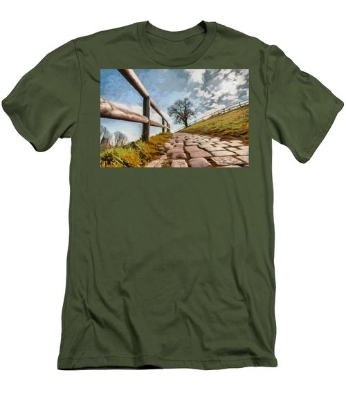 Footpath Men's T-Shirt (Slim Fit) by Sergey Simanovsky