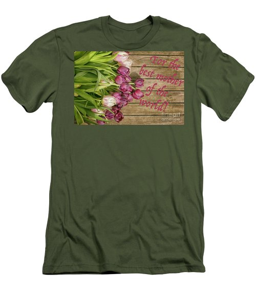 Men's T-Shirt (Slim Fit) featuring the photograph For The Best Mother Of The World by Patricia Hofmeester