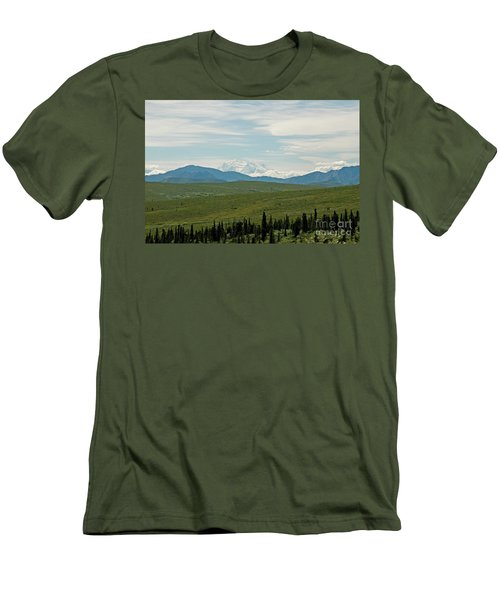 Foreground And Mountain Men's T-Shirt (Athletic Fit)