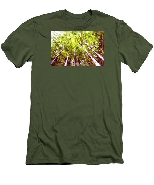 Men's T-Shirt (Slim Fit) featuring the photograph Forest 2 by Jean Bernard Roussilhe
