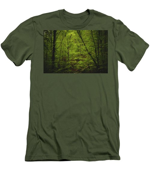Men's T-Shirt (Slim Fit) featuring the photograph Forest Beckons by Shane Holsclaw