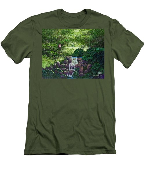 Forest Brook Iv Men's T-Shirt (Slim Fit) by Michael Frank