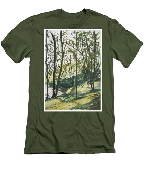 Forest By The Lake Men's T-Shirt (Slim Fit) by Manuela Constantin